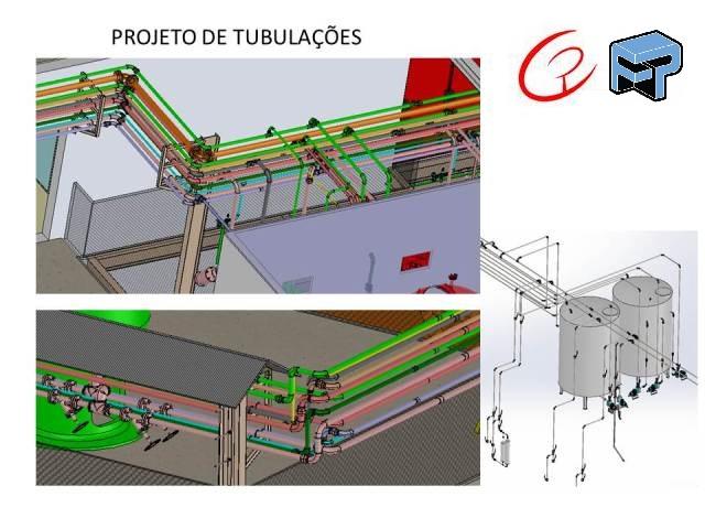Projeto mecanico completo para reservatorios e Tubulações
