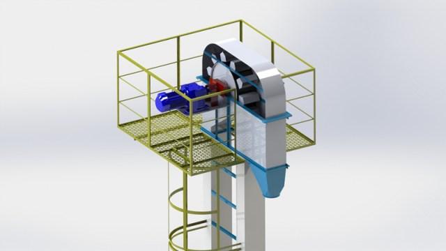 elevadores de grão modelo caneca
