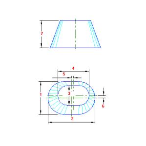 70 Planificacao Transição Oval para Oval traçado caldeiraria