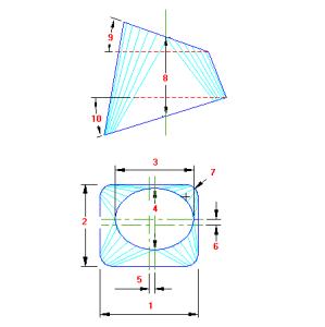 73 Planificacao Retangulo para Oval traçado caldeiraria