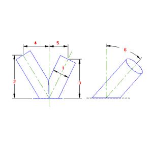 88 Planificacao Bifurcação Cilindrica Base Inclinada traçado caldeiraria