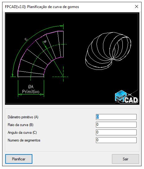 [FPCAD V2.0] Planificação de curva de gomos