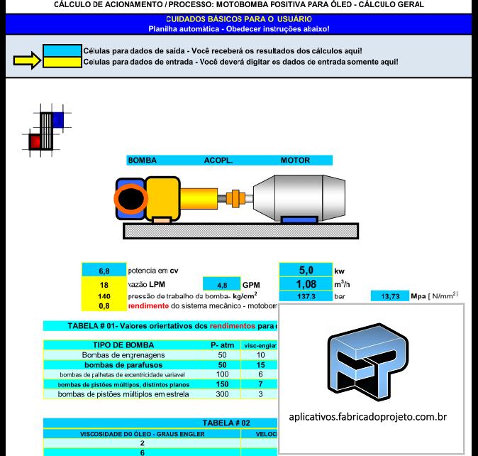 AFP.03.10105 dimensionamento calculo motobomba positiva oleo