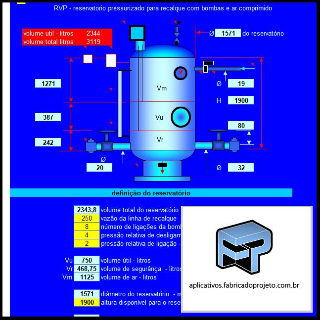 AFP.03.10213.0 rvp dimensionamento reservatorio pressurizado