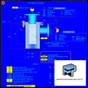 Aplicativos FP N3: Planilha para calculo e dimensionamento de Filtros Metálicos