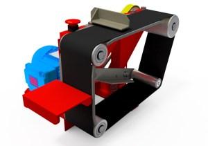 Projetos FP: Lixadeira de cinta para bancada