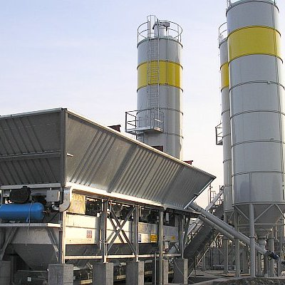 projeto completo central agregados usina de concreto