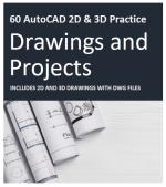 60 Exercícios AutoCAD 2D & 3D para você praticar!