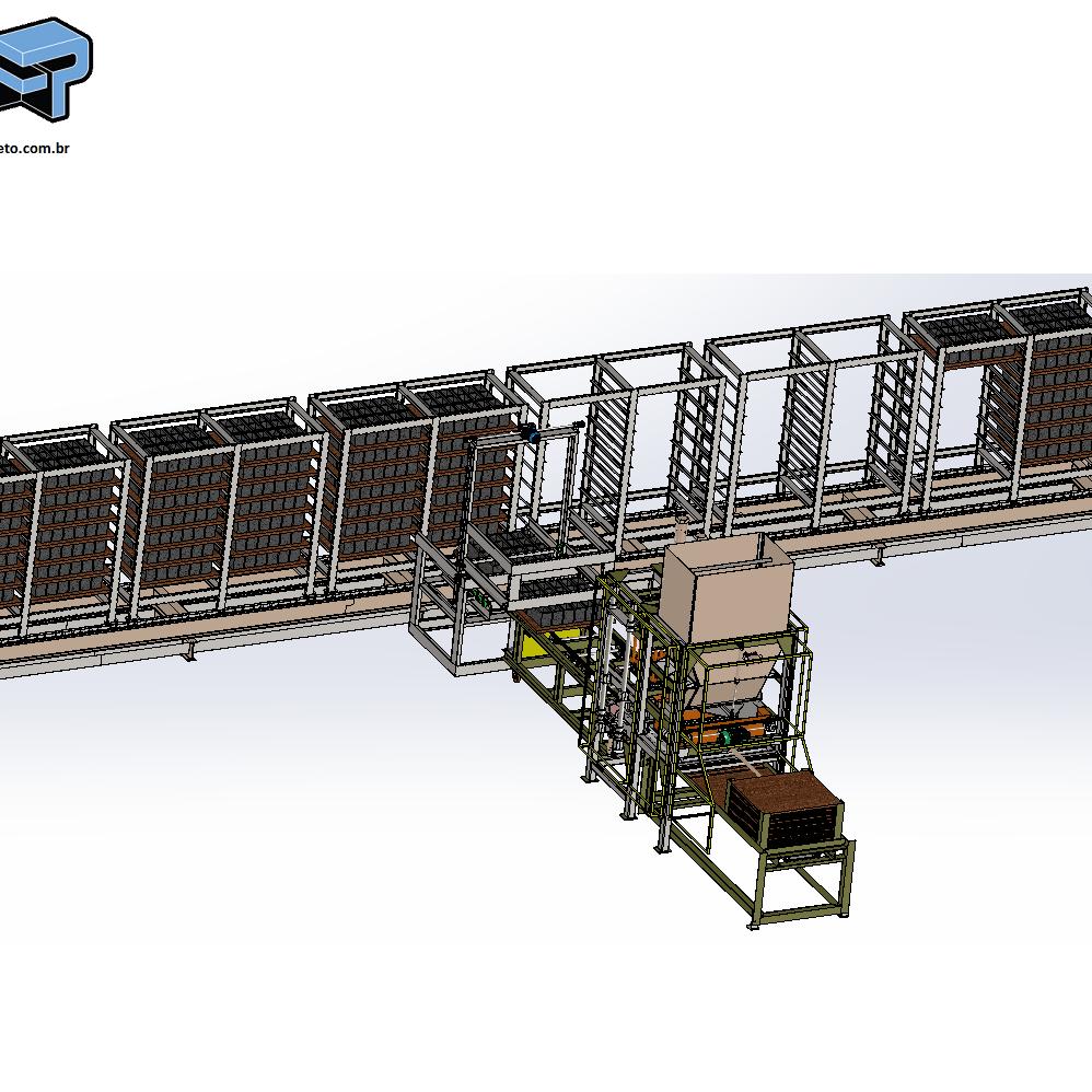 projeto mecanico completo esterira de saida de blocos de concreto fabricadoprojeto