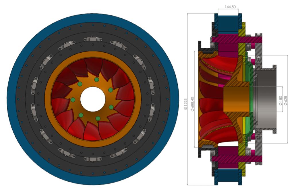 turbina detalhada