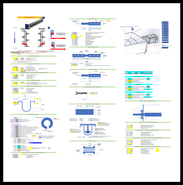 AFP.. dimensionamento completo transportador helicoidal fabricadoprojeto