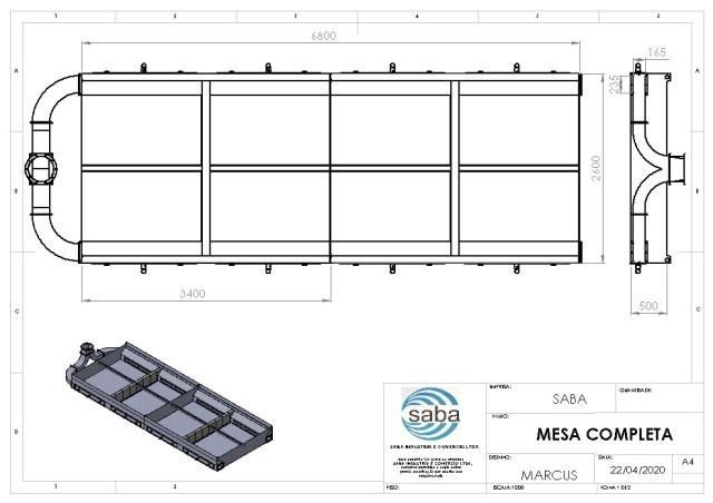 Projeto completo sistema aspiracao mesa corte plasma fabricadoprojeto