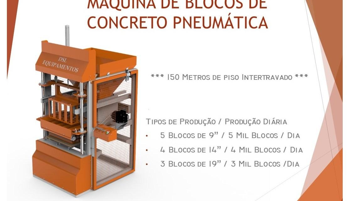 projeto completo maquina blocos concreto pneumatica fabricadoprojeto