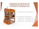Projetos FP: Maquina Pneumática para Blocos de Concreto com Esteira Transportadora e Misturador Vertical