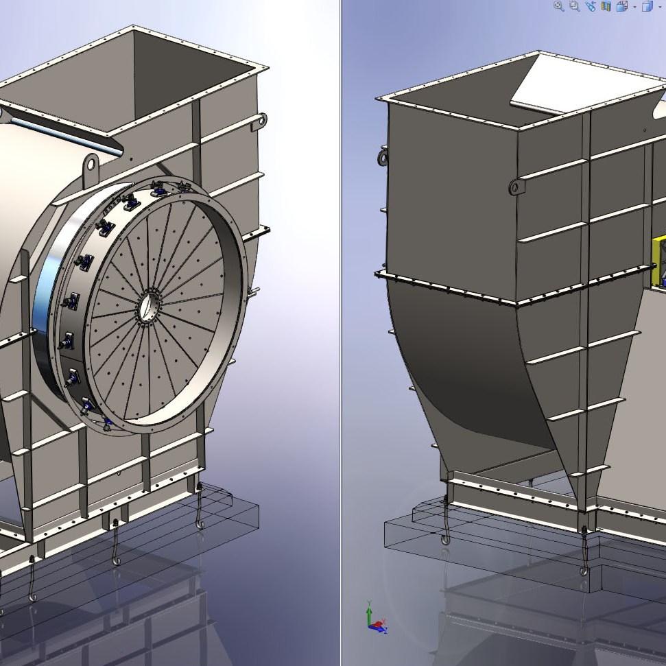 projeto completo ventilador centrifugo fabricadoprojeto