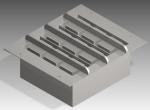 Projetos FP: Projeto 3D e 2D forma para fazer blocos de concreto