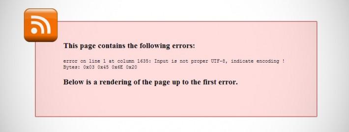 Fix WordPress RSS Feed Errors