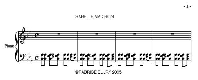 Isabelle madison extrait