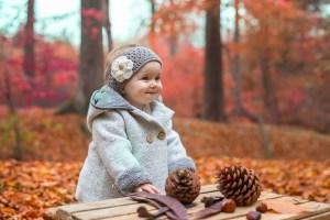 Photo bébé couleurs d'automne