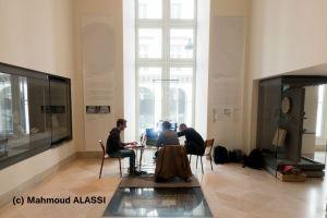 Julien Curie, Josef Wilczek et moi-même au Louvre pour une campagne de scan 3D