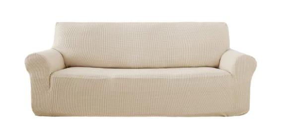 Deconovo beige sofa slipcover