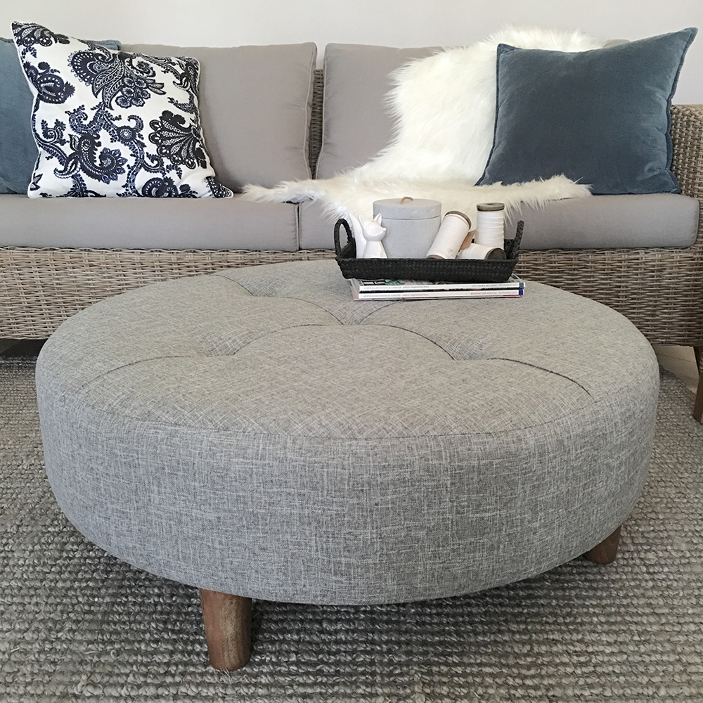 round coffee table fabric