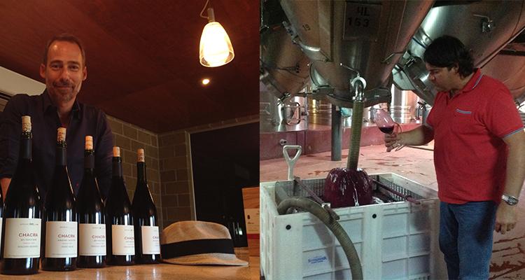 Piero se animó primero;  abrió el camino del Pinot Noir y Leo lo aprovechó