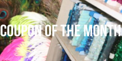 Get 15% Off Feathers and 25% Off Trims  | April's Coupon of the Month