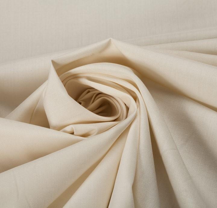 Cotton Poplin Off White Fabric