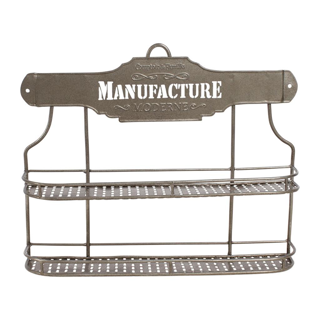 etagere pour pot a epices manufacture grise en fer