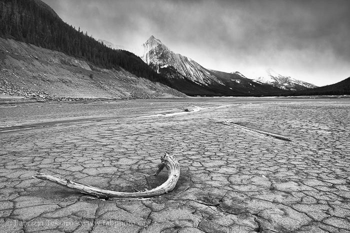 MEDICINE LAKE in November, Jasper National Park, Alberta, Canada
