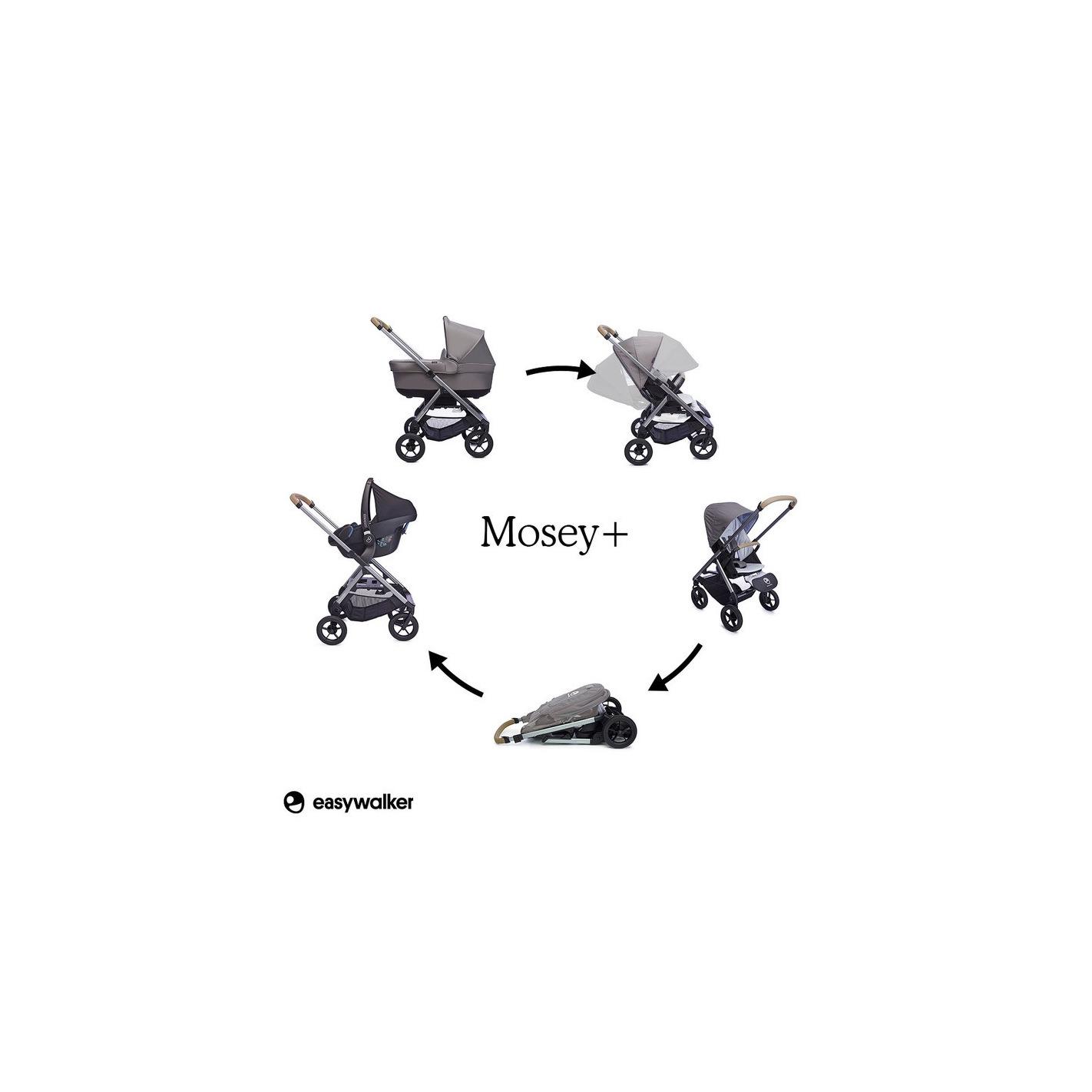 Easywalker Mosey Wozek G Boko Spacerowy Pebble Grey