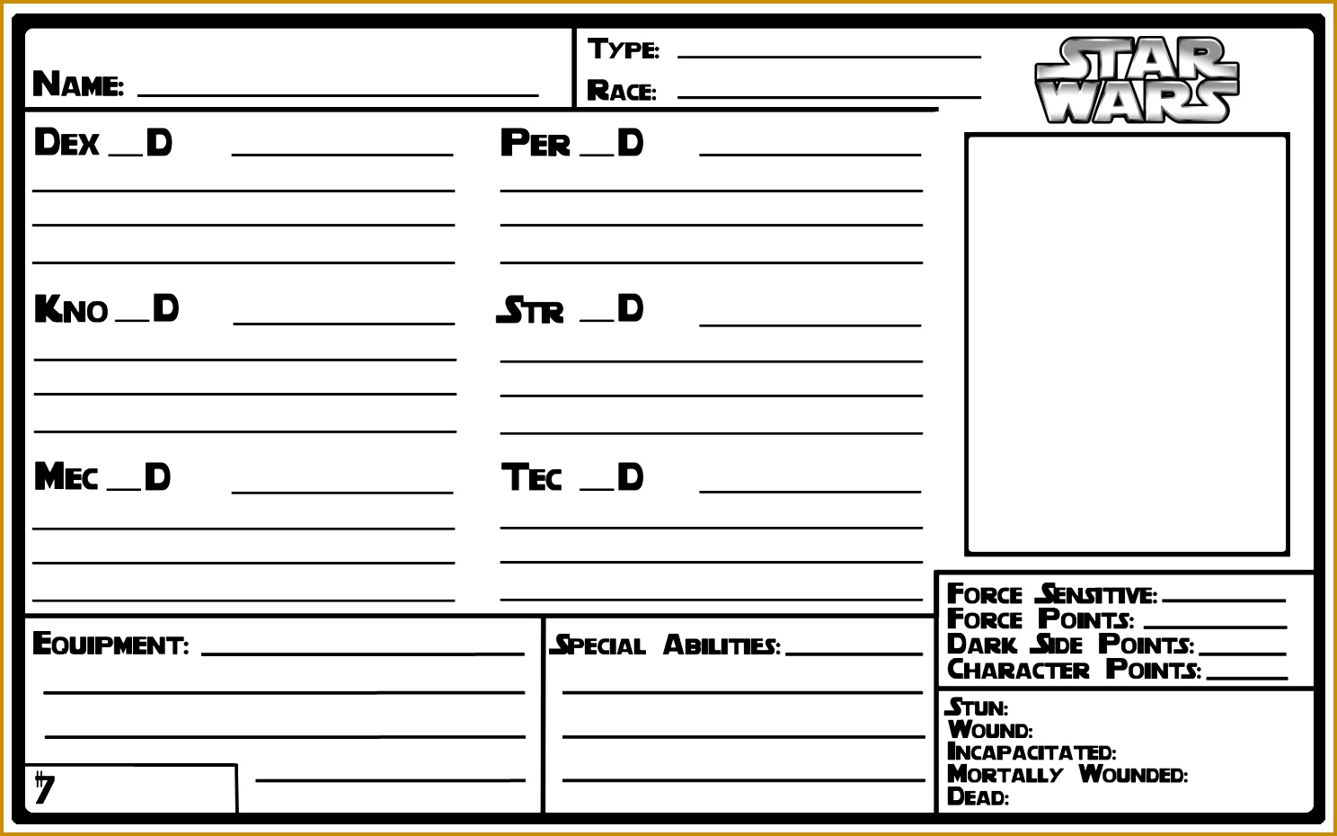 5 Character Profile Sheet Template
