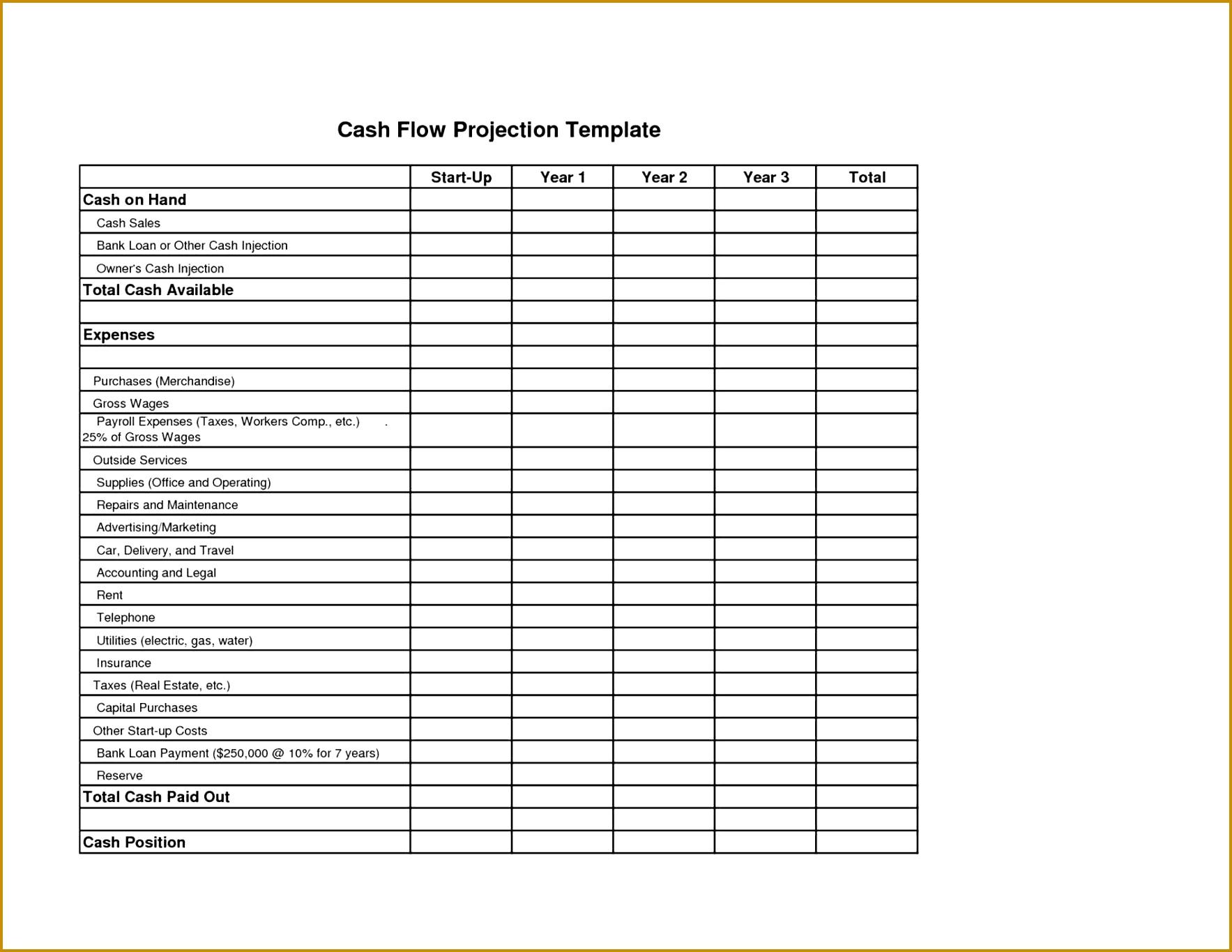 6 Income Statement Balance Sheet Cash Flow Template Excel