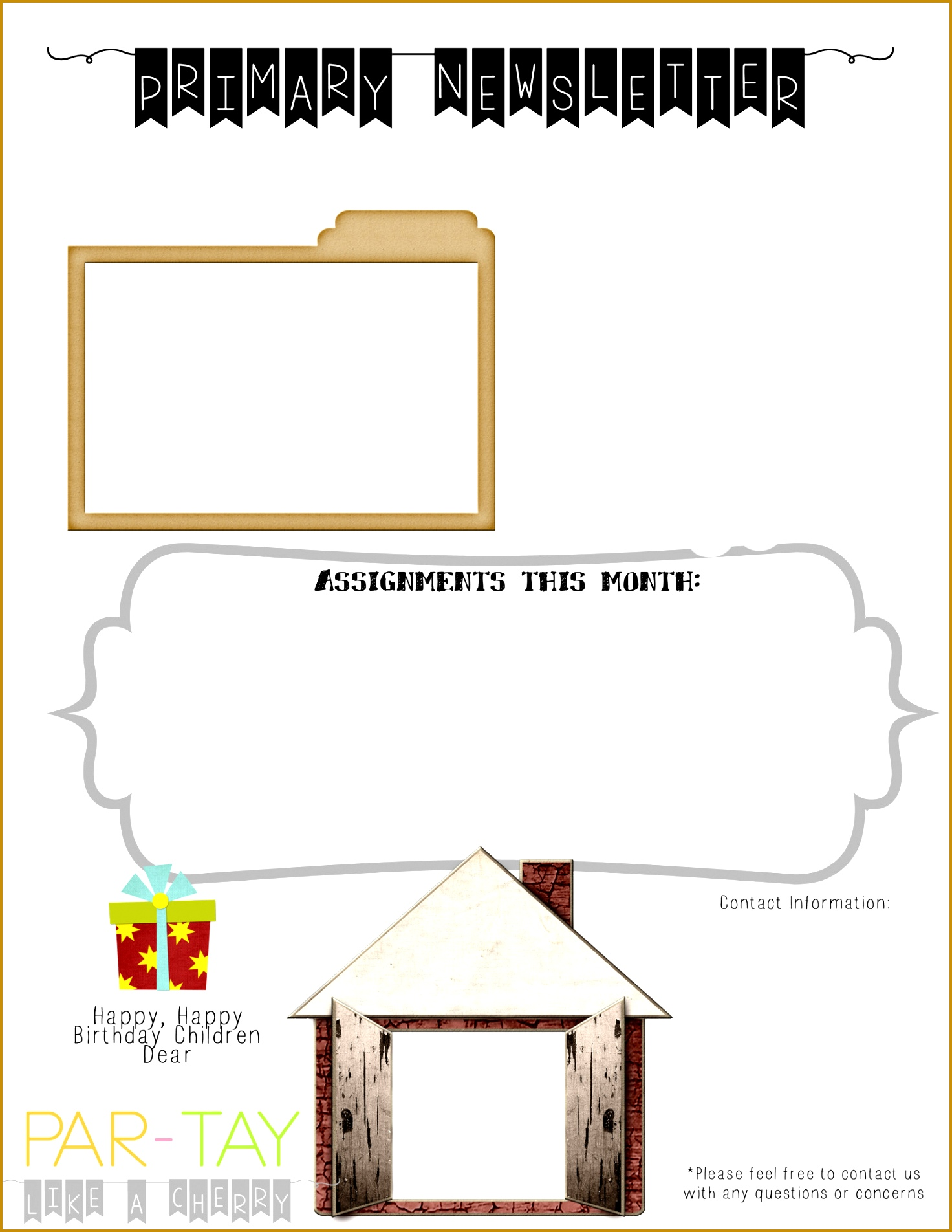 7 Nursery Newsletter Template