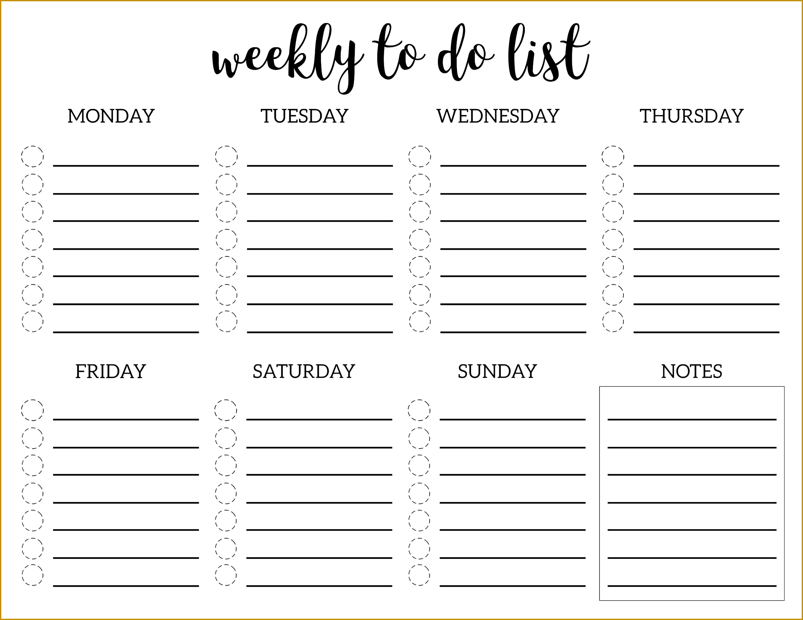 5 Office To Do List Template