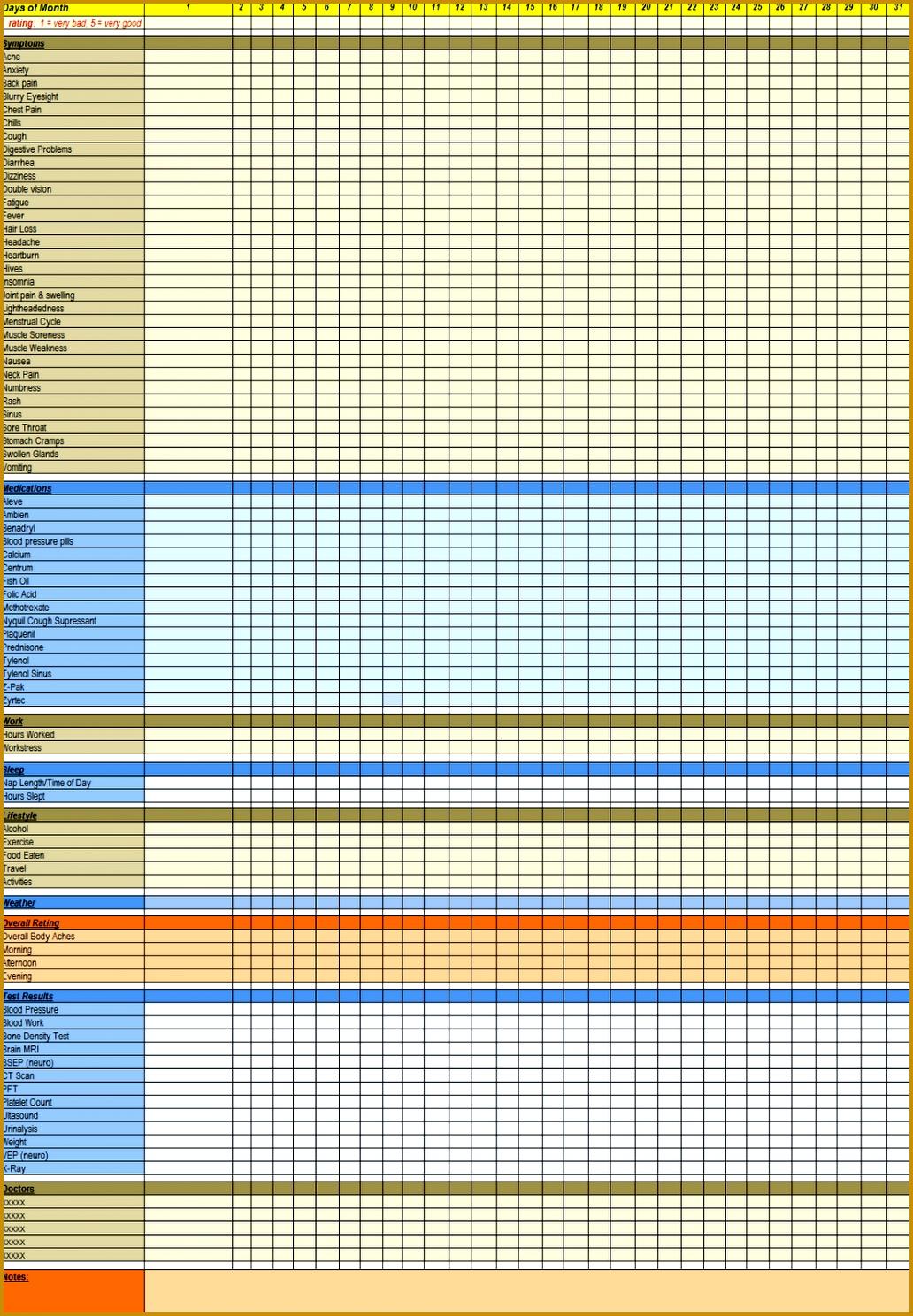 Medication Log Sheet 9 Best Of Printable Medication