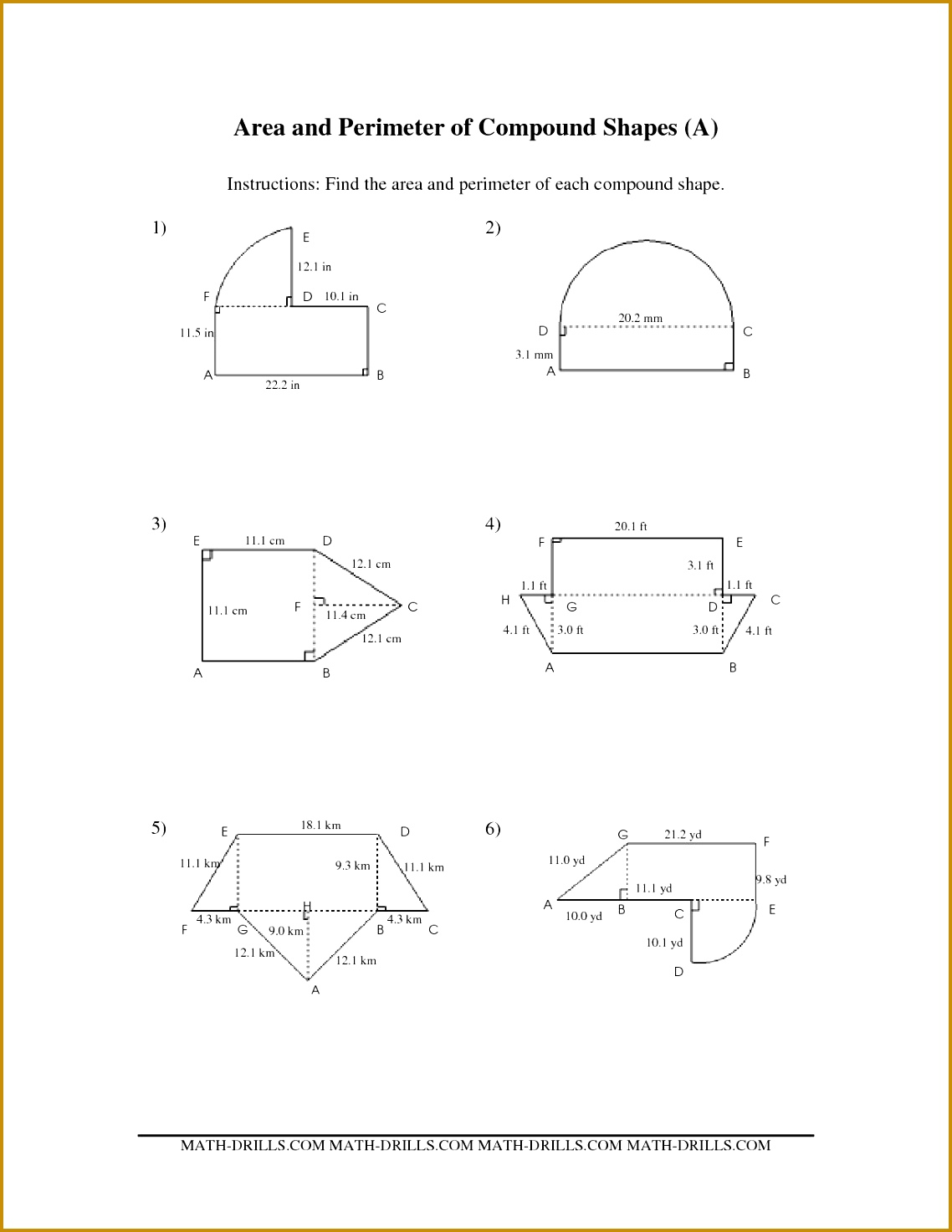 Easy Perimeter Worksheet Grade 3