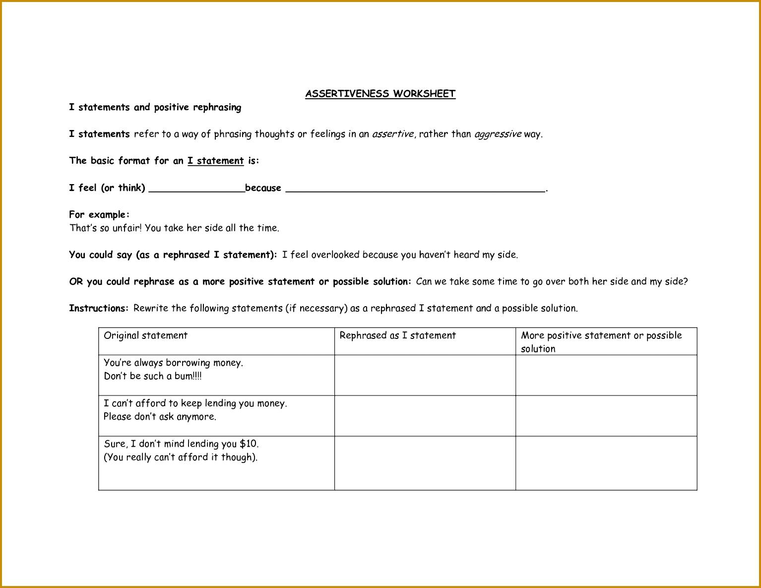 Cbt Worksheet Ptsd