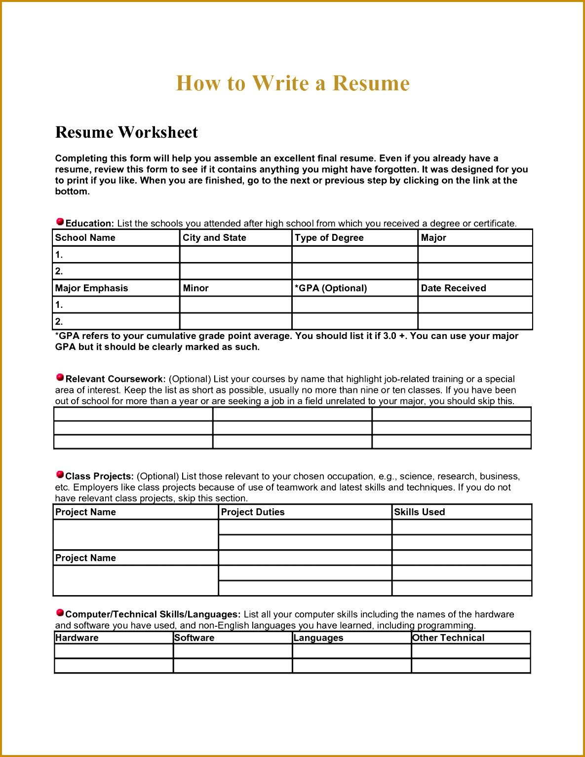 5 Coding Worksheets
