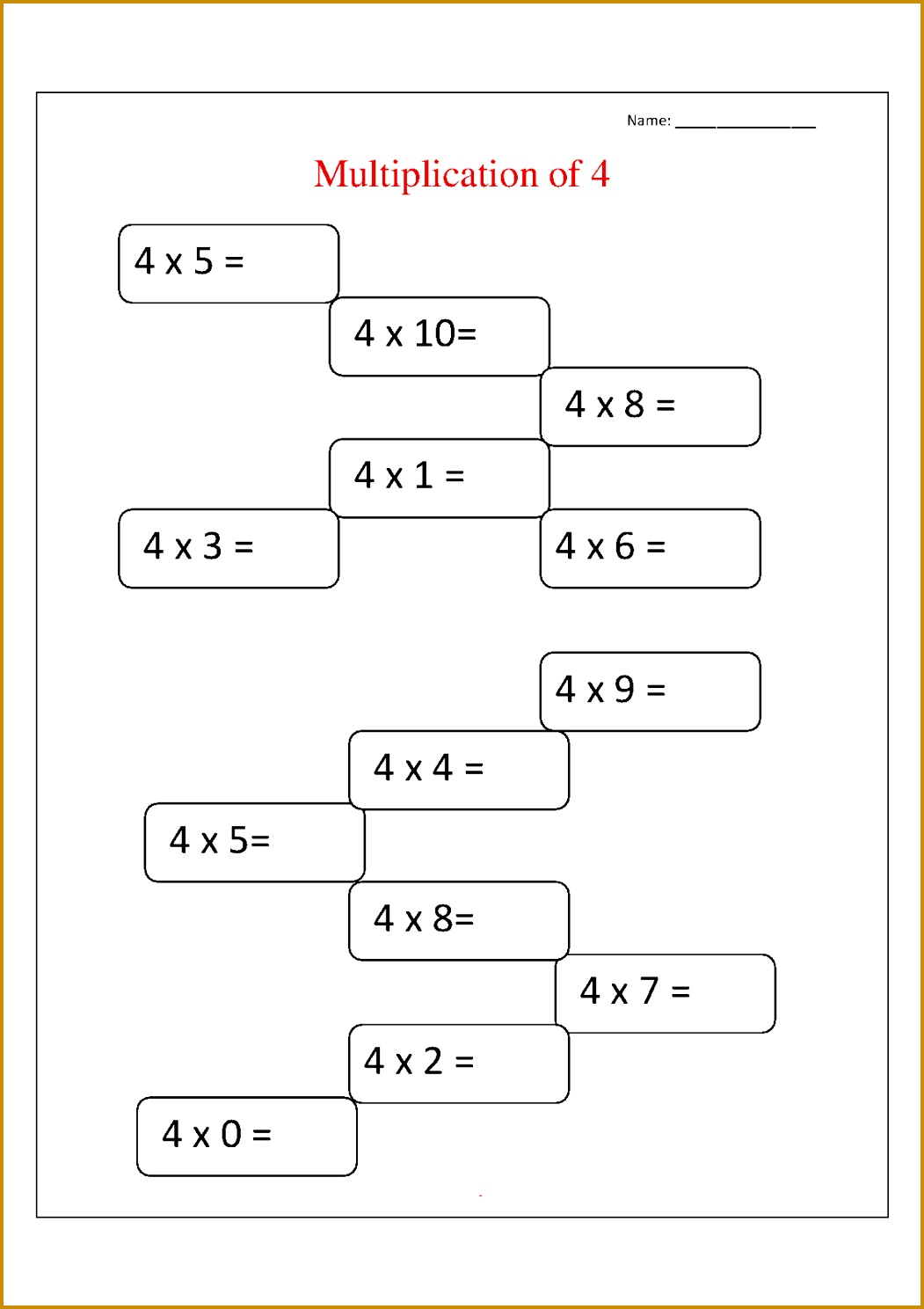 3 Division Worksheet