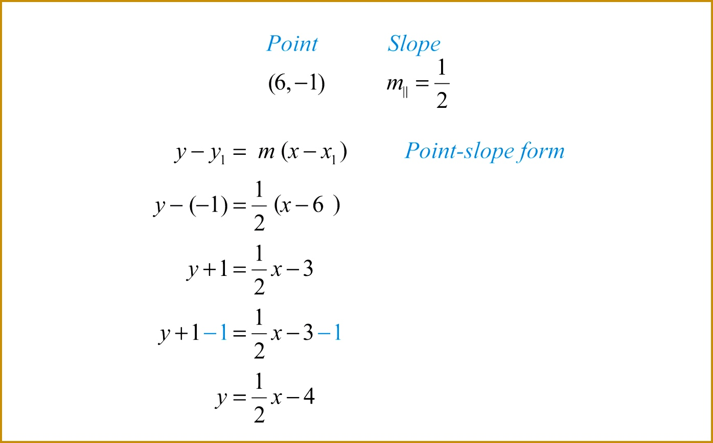 3 Equations Of Parallel And Perpendicular Lines Worksheet