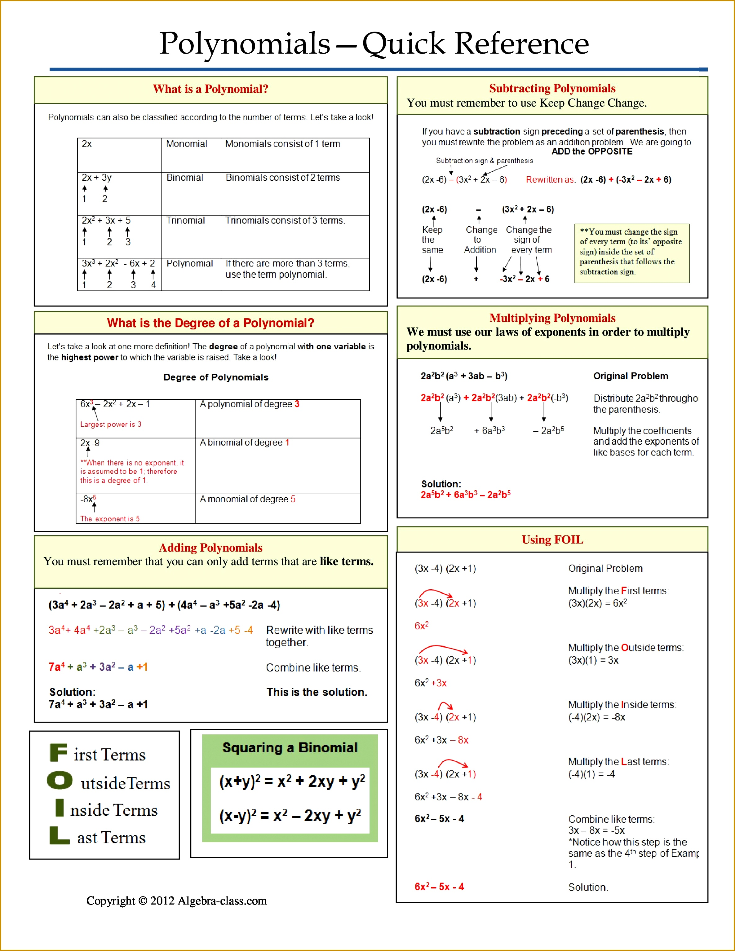 5 Exponent Worksheets