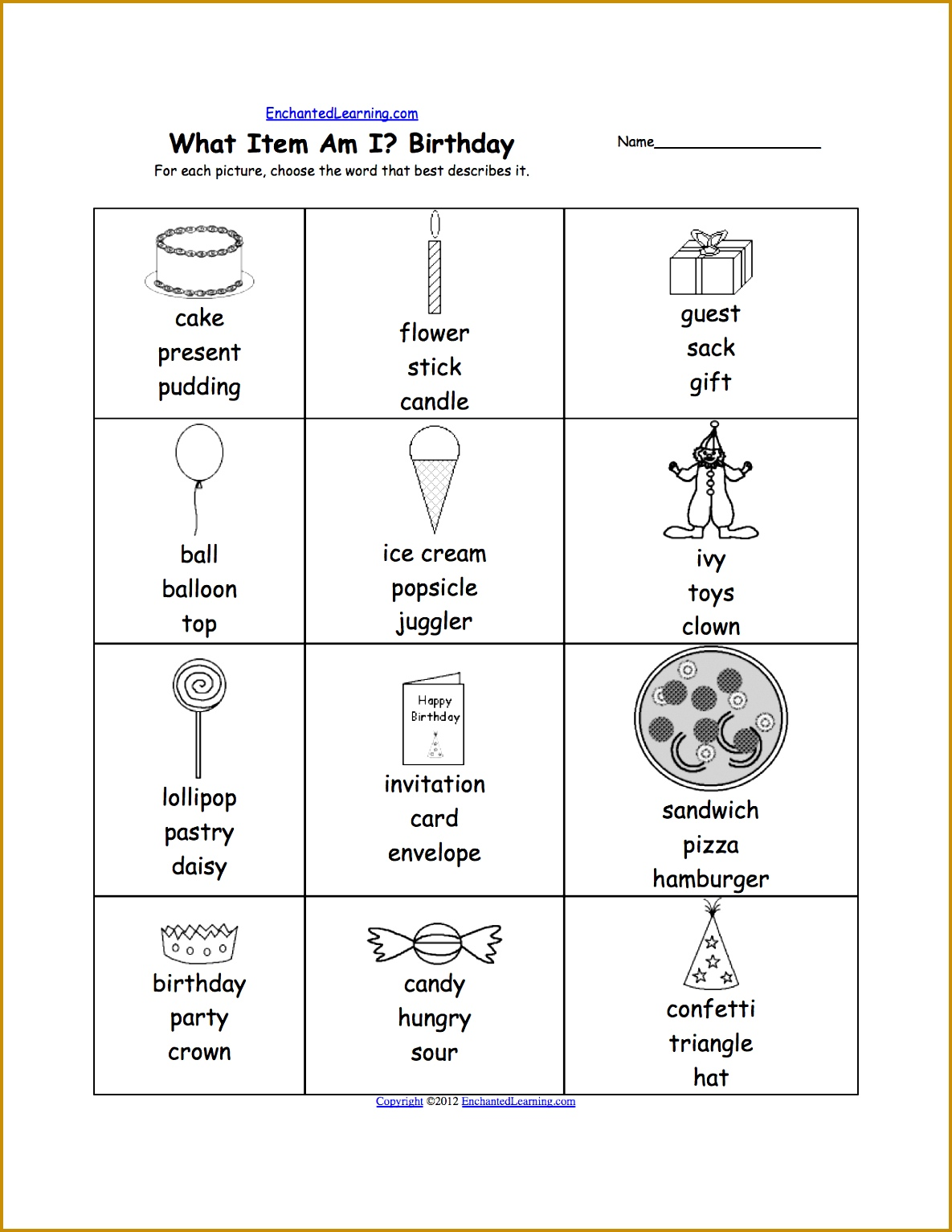 4 Free Printable Kindergarten Worksheets