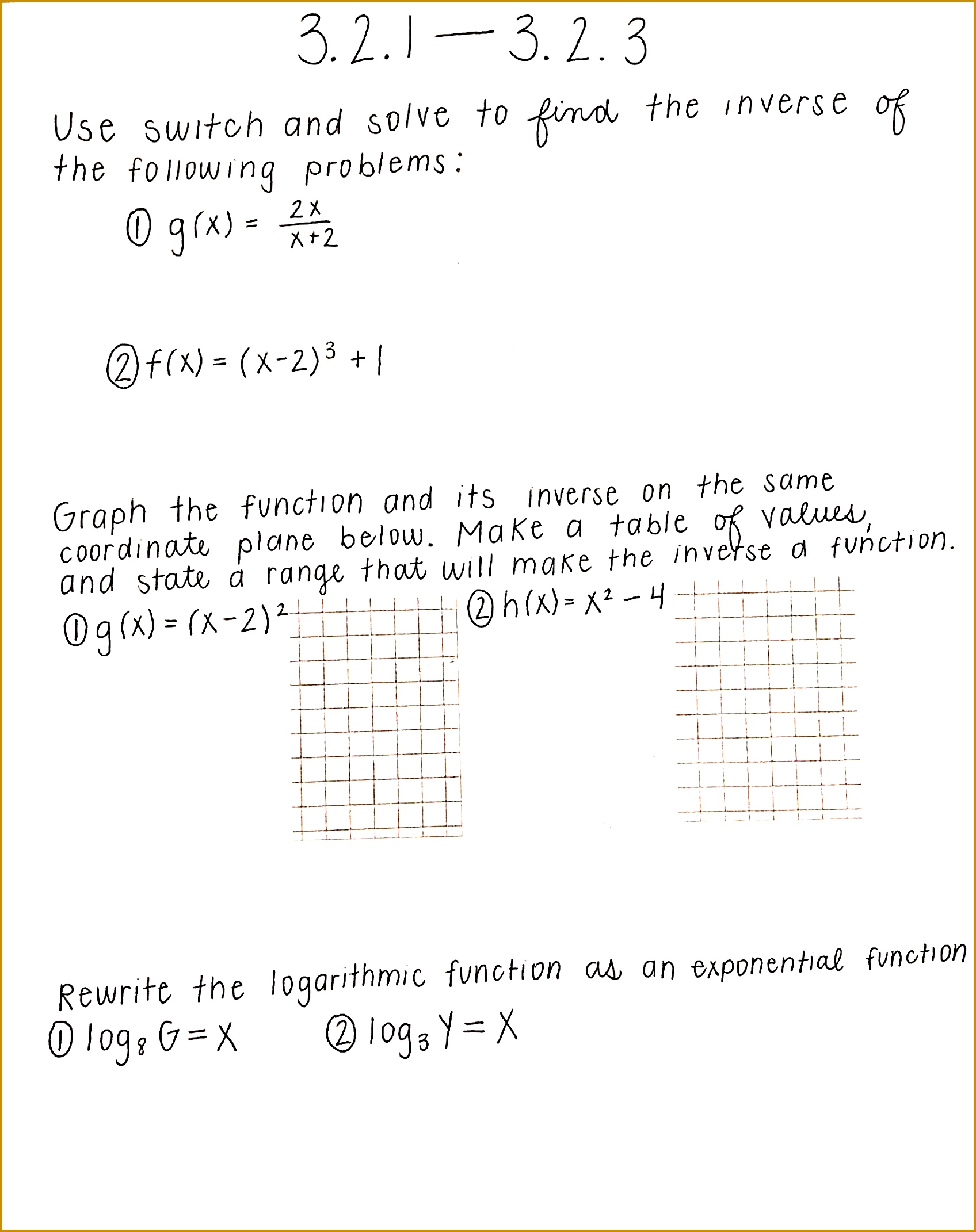 5 Graphing Exponential Functions Worksheet