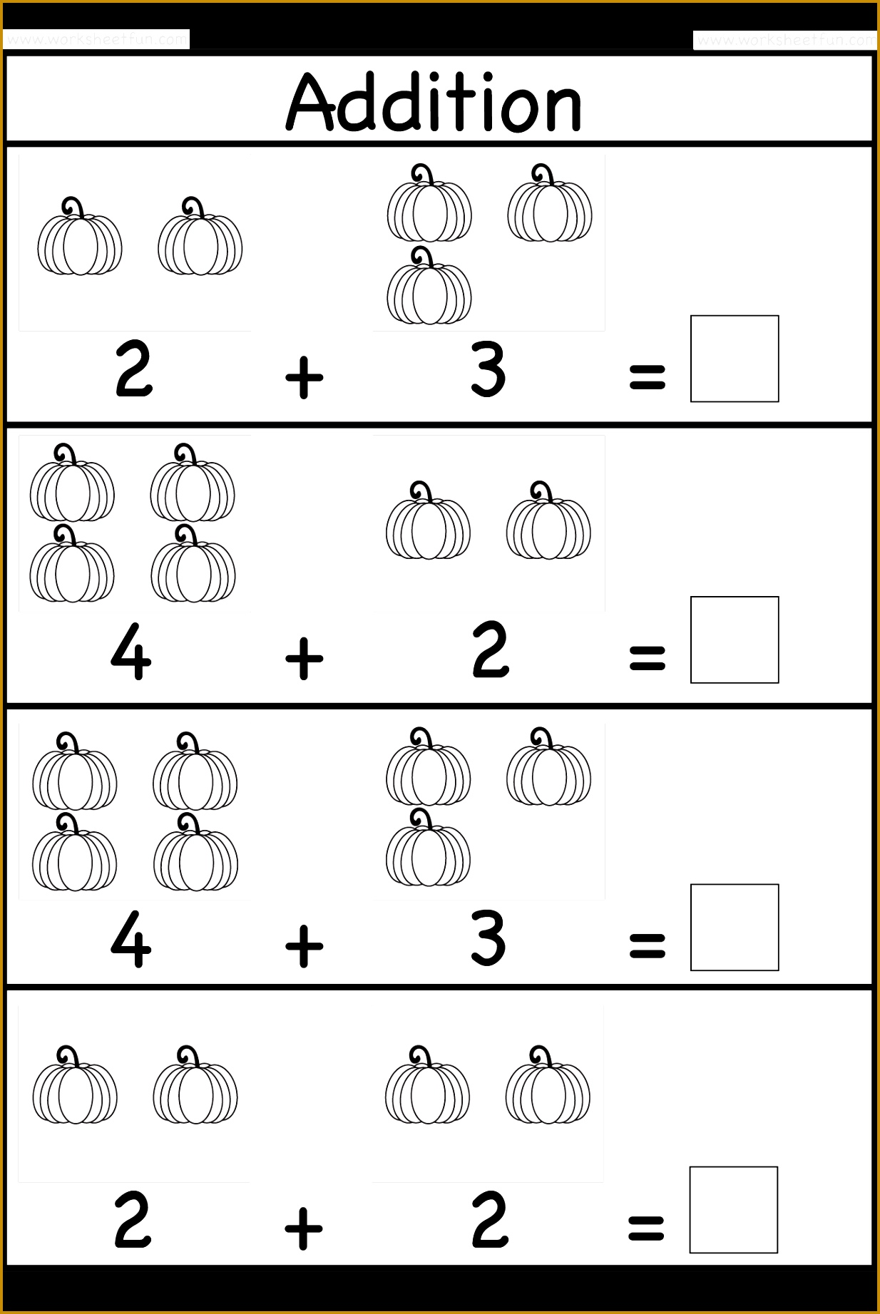 5 Halloween Math Worksheets