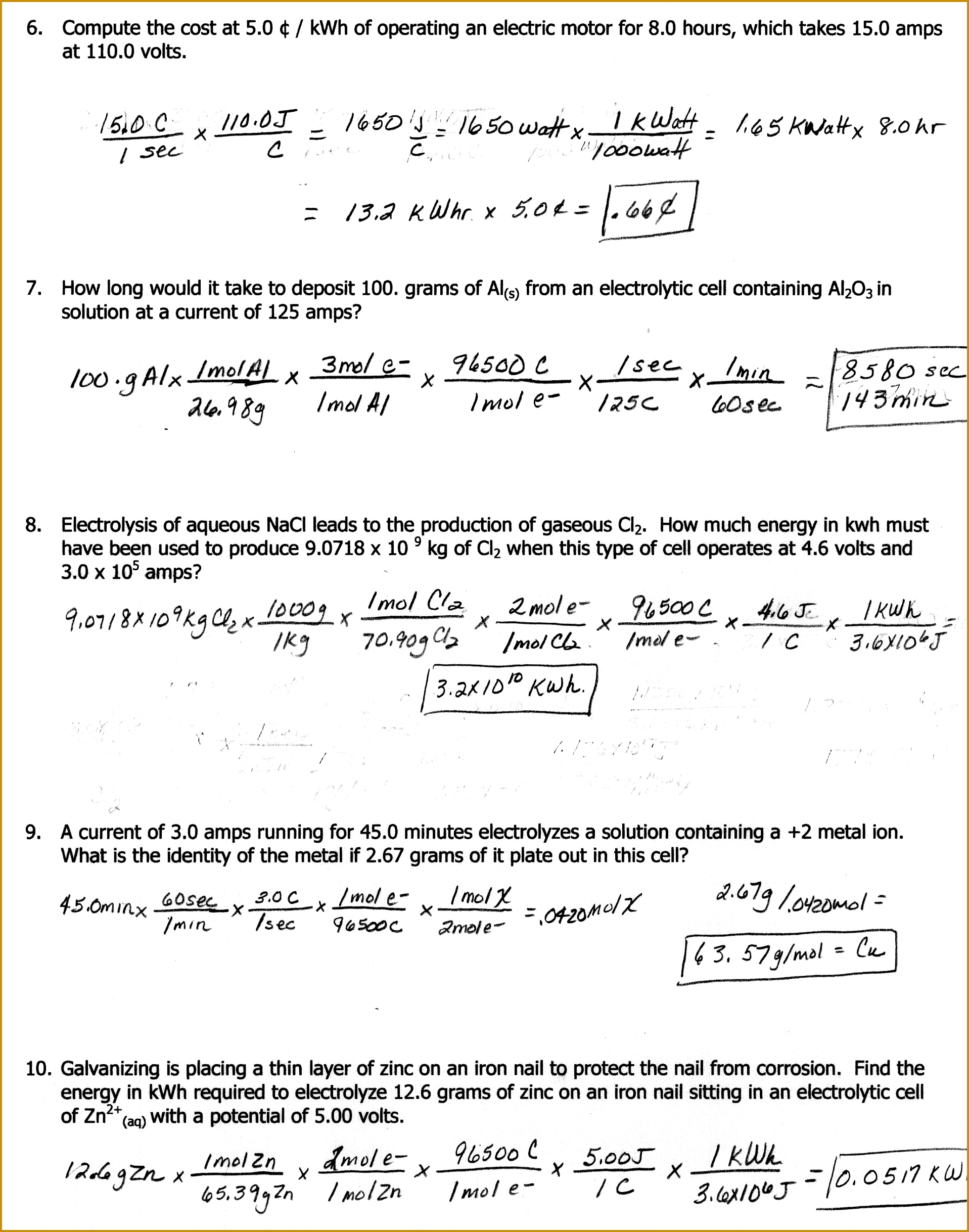 5 Mole Mole Stoichiometry Worksheet