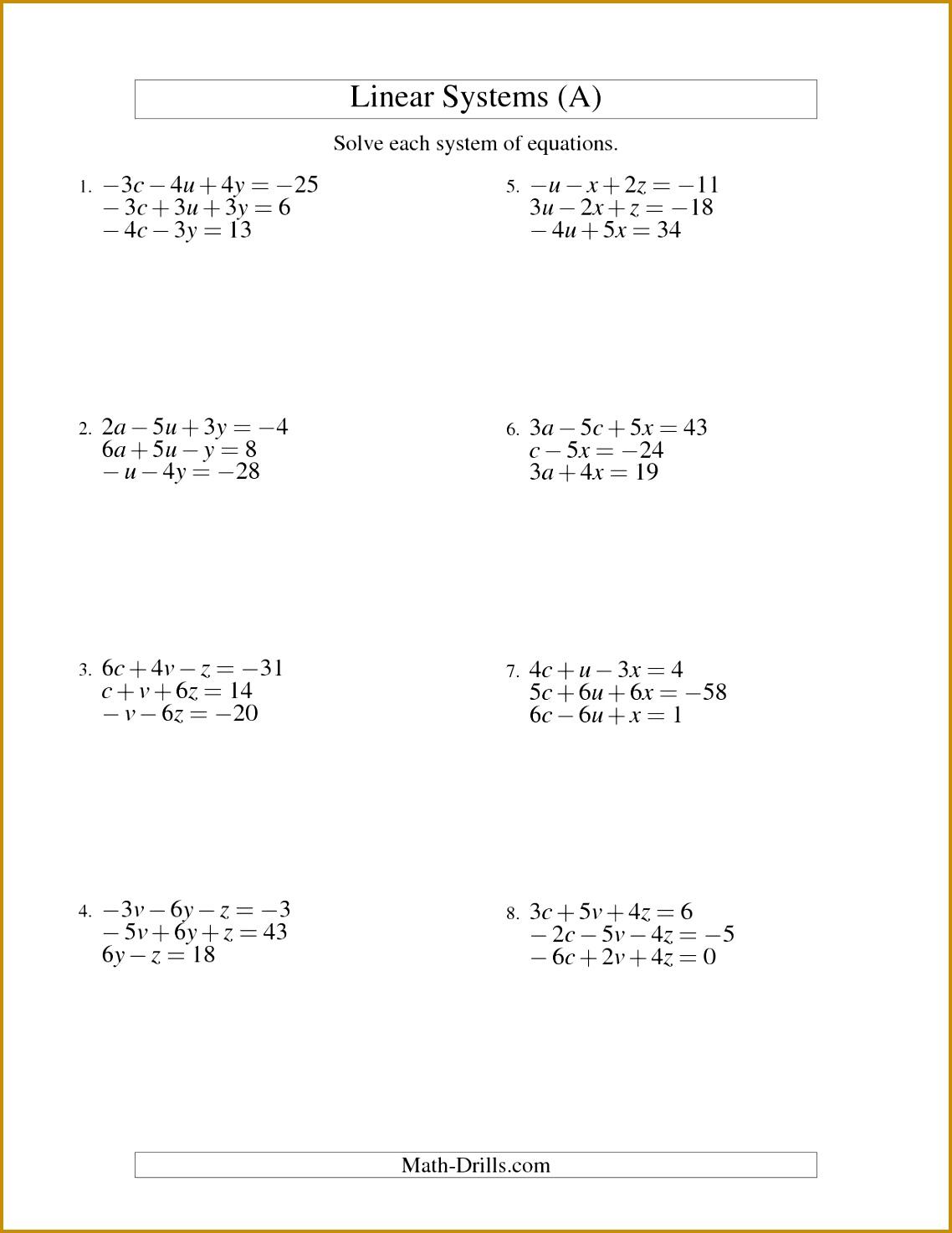 7 Multi Step Equations Worksheet Variables On Both Sides