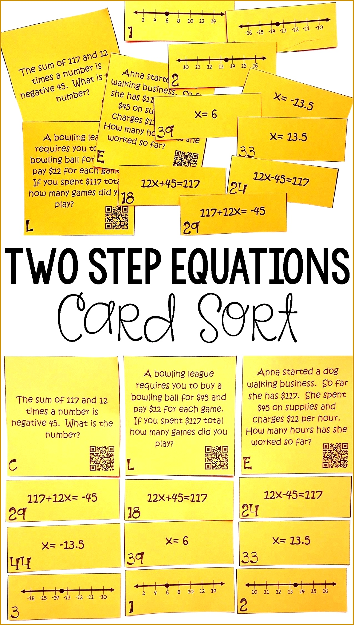 7 Multi Step Equations Worksheet Variables On Both Sides