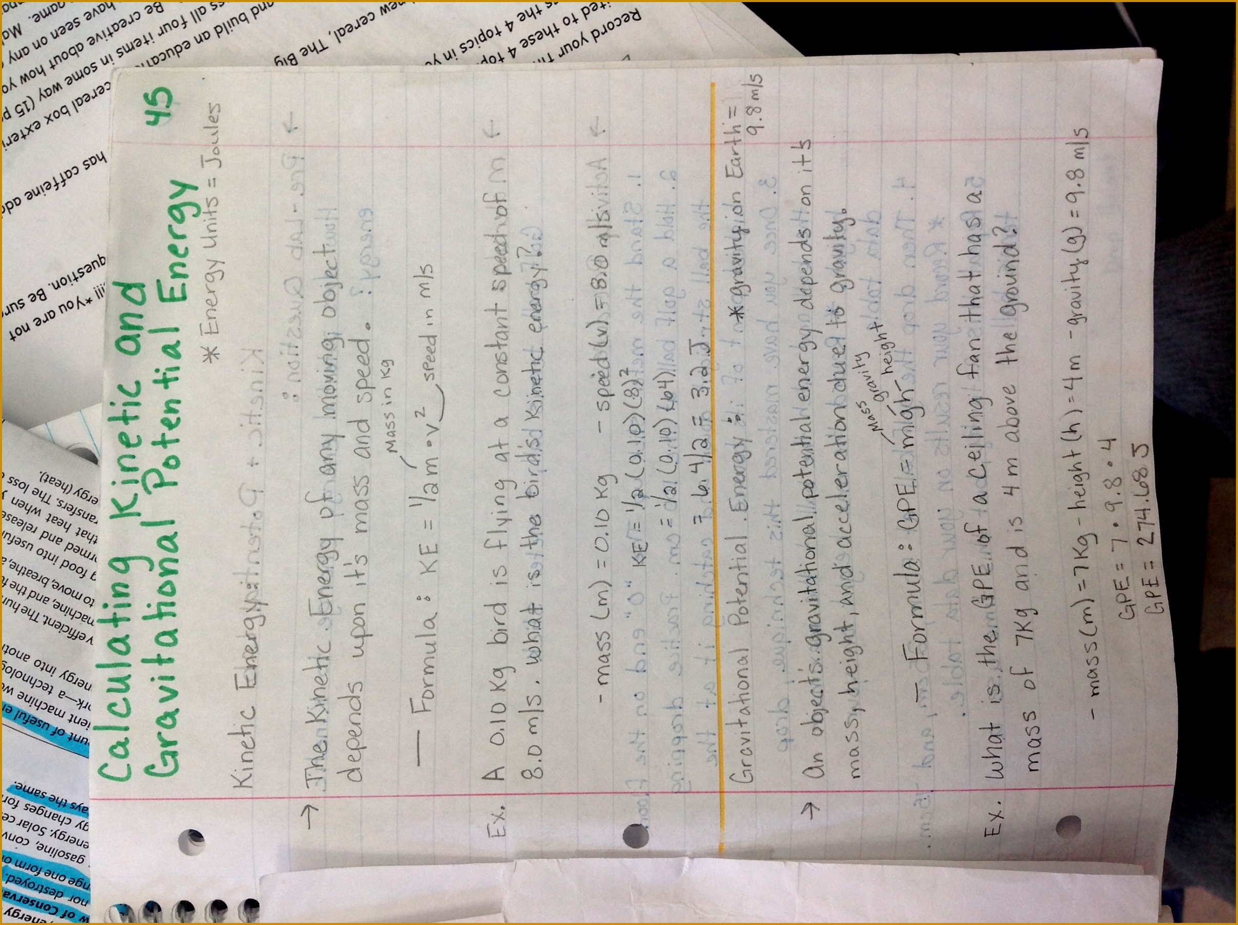 7 Note Taking Worksheet Waves